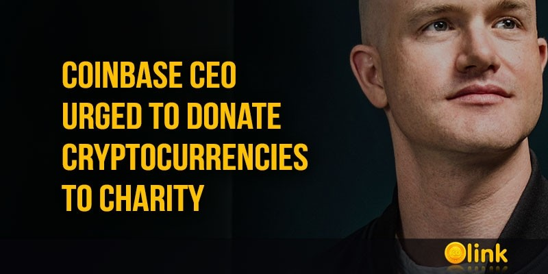 ICO-LINK-Coinbase-CEO-urged-to-donate-cryptocurrencies-to-charity
