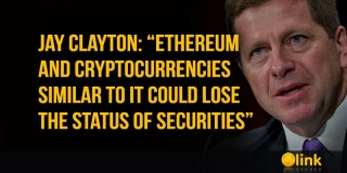 "Jay Clayton: ""ETHEREUM and cryptocurrencies similar to it could lose the status of securities"""