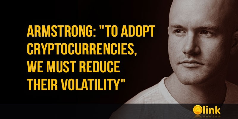 Brian-Armstrong-adopt-cryptocurrencies-reduce-volatility