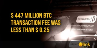 $ 447 million BTC transaction fee was less than $ 0.25