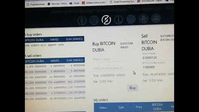 Como vender BITCOIN DUBIA #BTCDB #TOKEN #TREDING